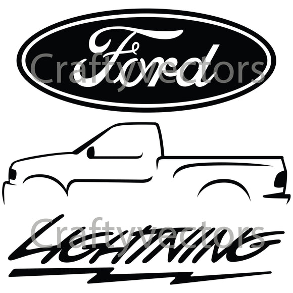 Ford Lightning Logo Vector