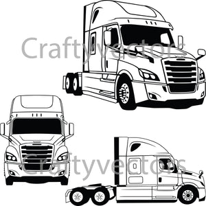 Freightliner Cascadia 2020 Cab Vector