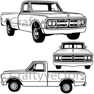 Chevrolet GMC C10 1972 Vector