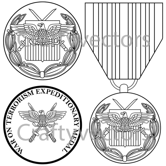 Global War on Terrorism Expeditionary Medal Vector File