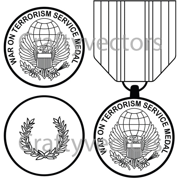 Global War on Terrorism Service Medal Vector File