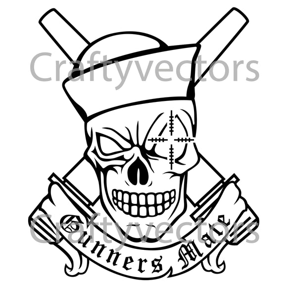 Navy Gunners Mate Guns Badge Vector File