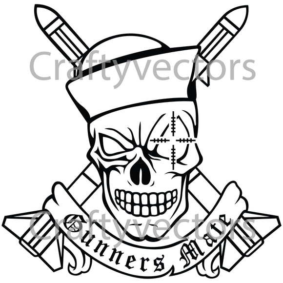 Navy Gunners Mate Badge Vector File