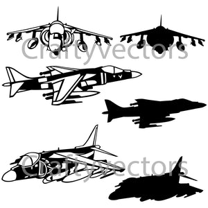 Harrier Jump Jet Vector File