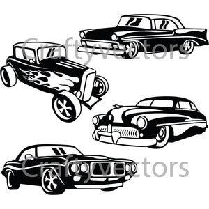 Hot Rods 2 Vector