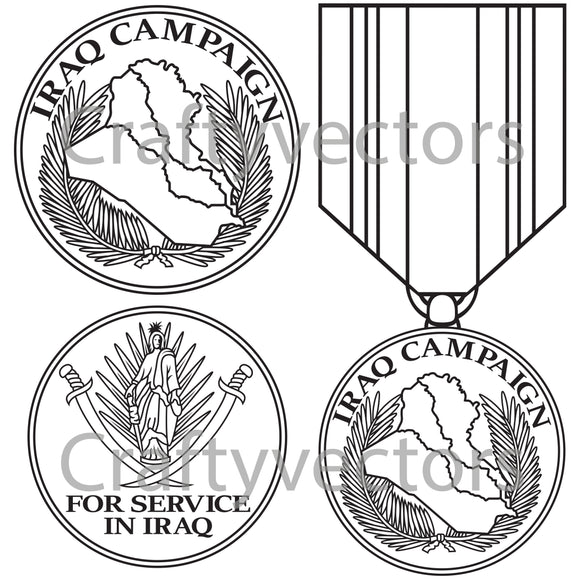 Iraq Campaign Medal Vector File