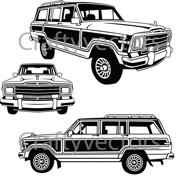 Jeep Grand Wagoneer 1991 Vector