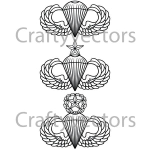 Army Parachutist Badge Vector File