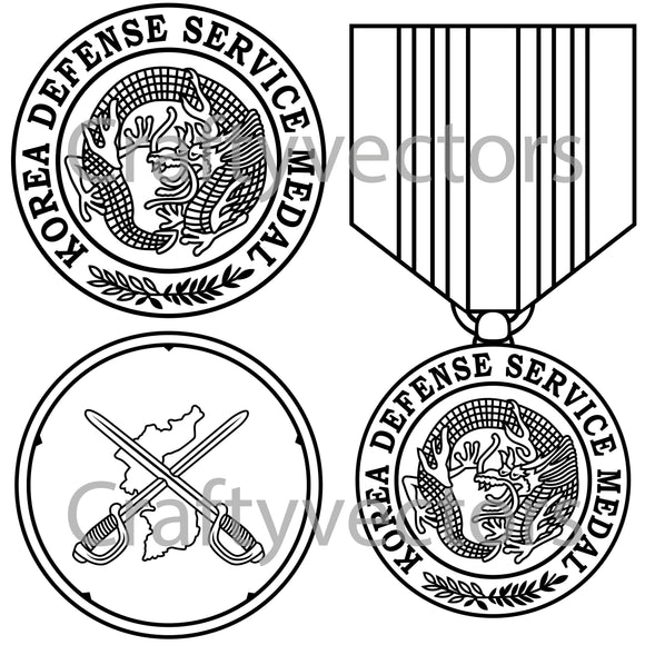 Korean Defense Service Medal Vector File