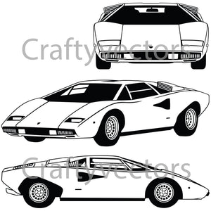 Lamborghini Countach LP400 Vector