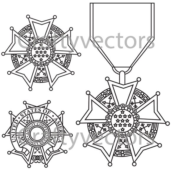 Legion of Merit Medal Vector File