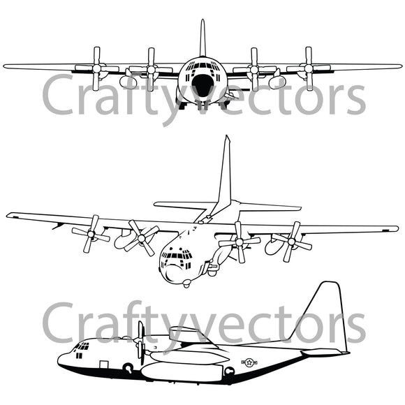 Lockheed AC 130 Vector File