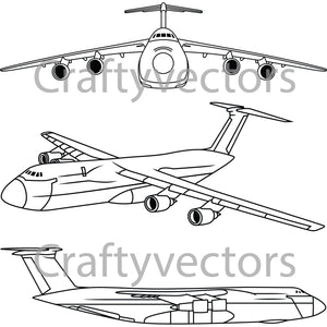 Lockheed C5A Galaxy Vector File