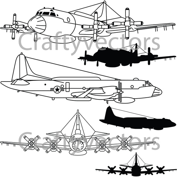 Lockheed EP-3E Orion Vector File