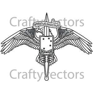 Marine Special Operator Badge Vector File
