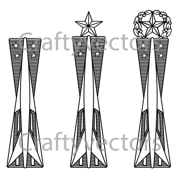 Air Force Missile Maintenance Badge Vector File