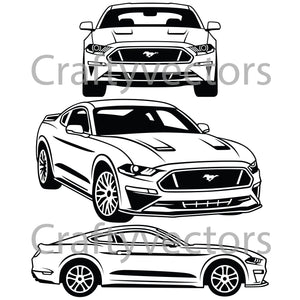 Ford Mustang2018 Vector