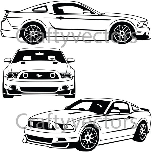 Ford Mustang2013 Vector