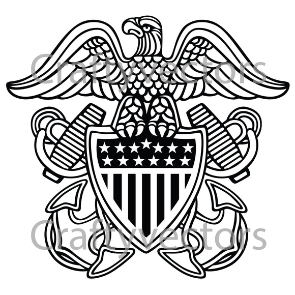 Navy Officer Crest Vector File