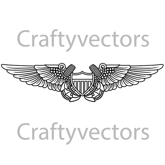 Navy Flight Officer Badge Vector File