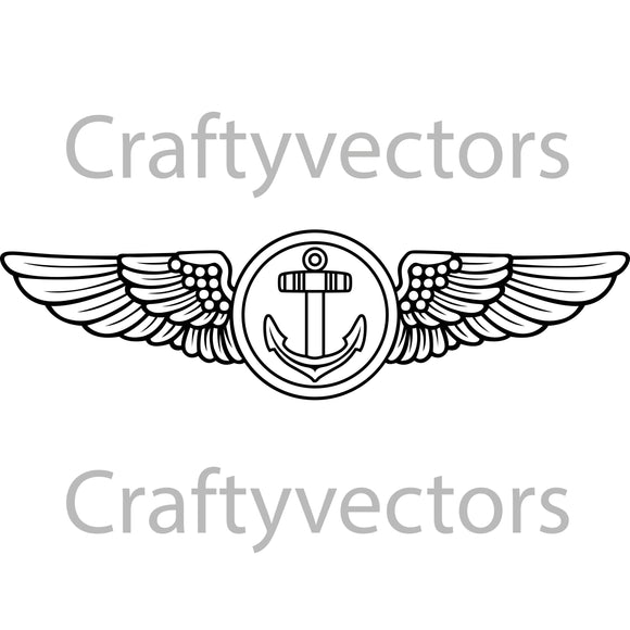 Navy Aviation Observer Insignia Vector File