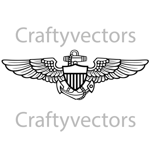Navy Aviator Badge Vector File