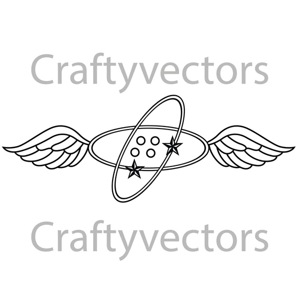 Navy Avionics Technician Badge Vector File