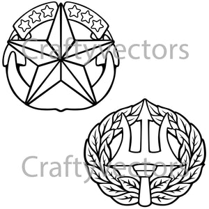 Navy Command Badge Vector File