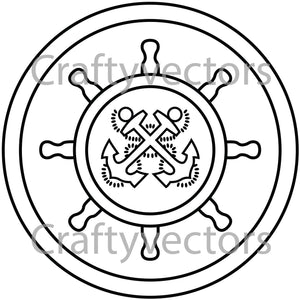 Navy Craftmaster Badge Vector File