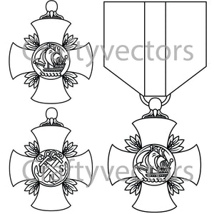 Navy Cross Medal Vector File