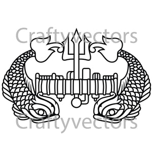 Navy Deep Submergence Rescue Vehicle Insignia Vector File