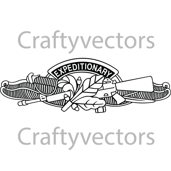 Navy Expeditionary Warfare Supply Officer Insignia Vector File