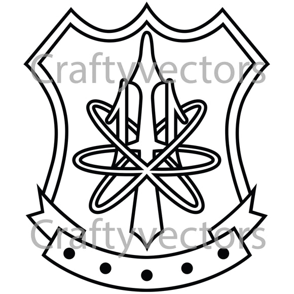 Navy Nuclear Weapons Security Badge Vector File