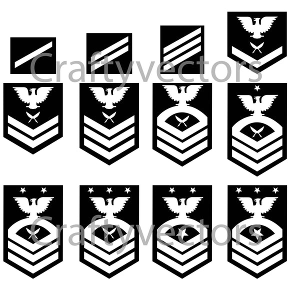 Navy Yeoman Ranks Vector File