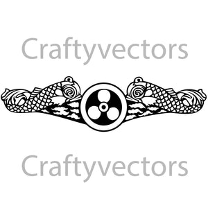 Navy Submarine Engineering Duty Badge Vector File