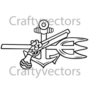 Navy Underwater Demolition Team Badge Vector File