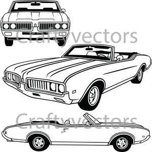 Oldsmobile Cutlass  Convertible1969 Vector