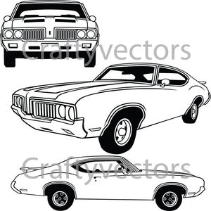 Oldsmobile Cutlass 1970 Vector