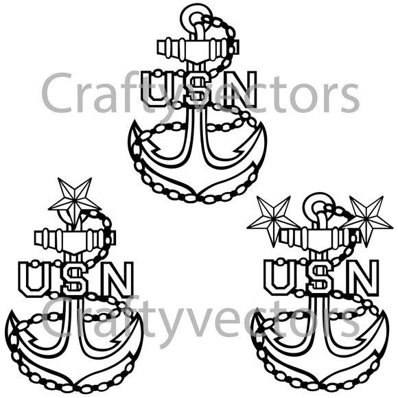 Navy Petty Officer Badge Vector File