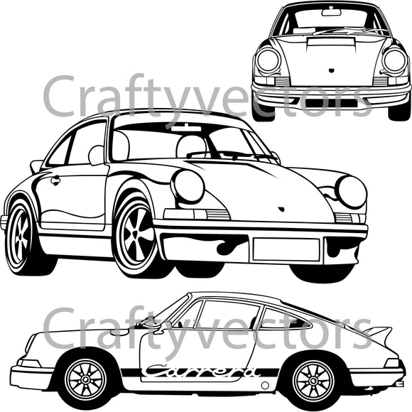 Porsche 911 Carrera RS 2.7 Vector