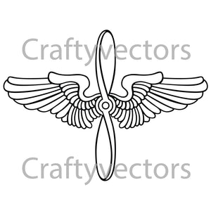 Prop and Wings Vector File