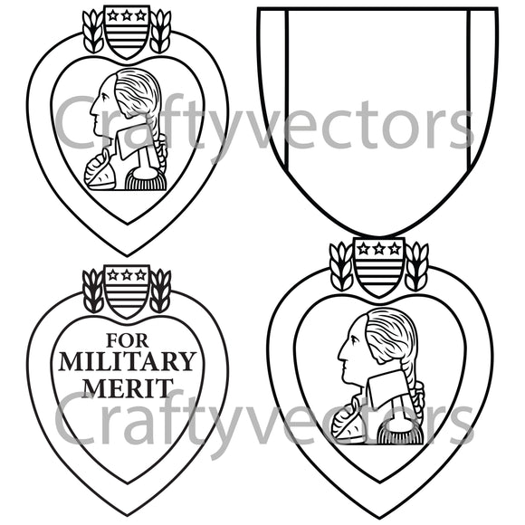 Purple Heart Medal Vector File