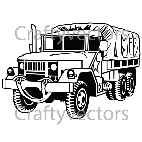 REO Truck Vector File