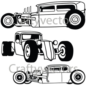 Rat Rod Bucket Vector