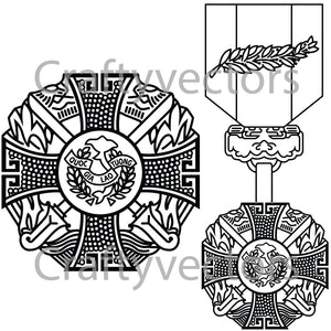 Republic of Vietnam Gallantry Cross  Vector File