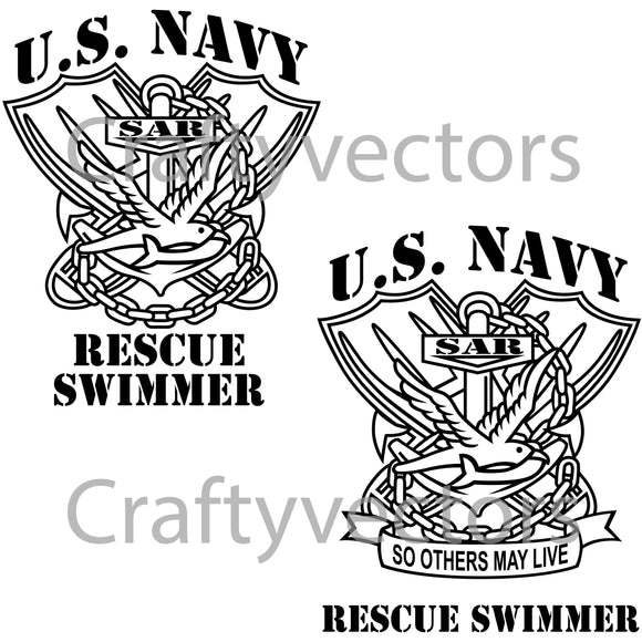Navy Rescue Swimmer Vector File