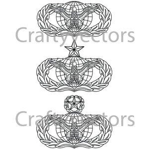 Air Force Force Protection Badge Vector File