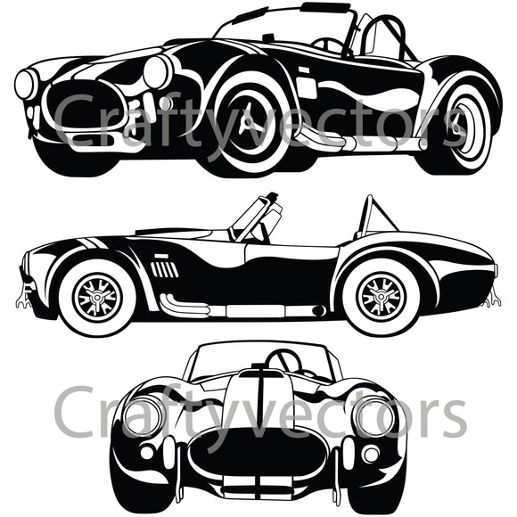 AC Shelby Cobra 67 Vector
