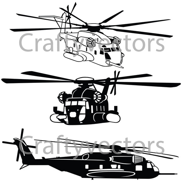 Sikorsky CH-53E Super Stallion Vector File