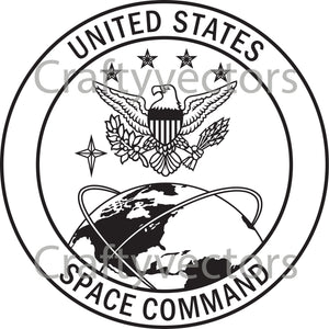 Space Command Crest Vector File